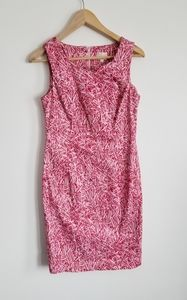 Cleo Petites  cotton dress pink and red